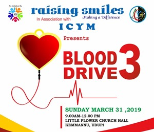 Blood Drive - 3 at Kemmannu on March 31.